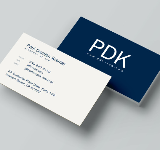 Business cards beach city design and marketing law offices of paul damien kramer business cards reheart Gallery
